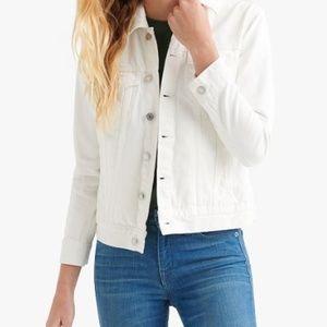 Lucky Brand White Cotton Denim Jacket